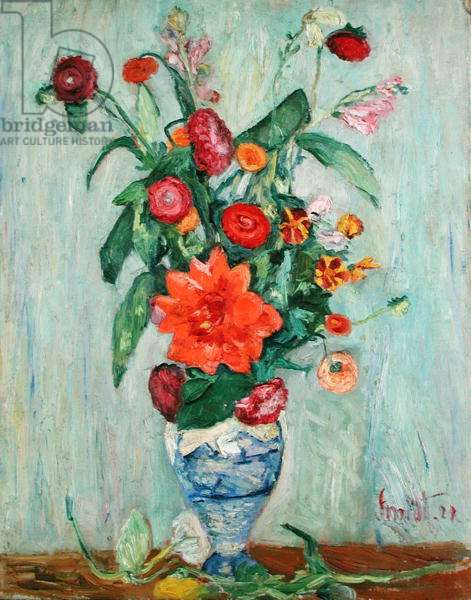 Still Life with Flowers, 1924 (oil on canvas)