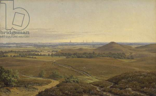 View of Hamburg (oil on canvas)