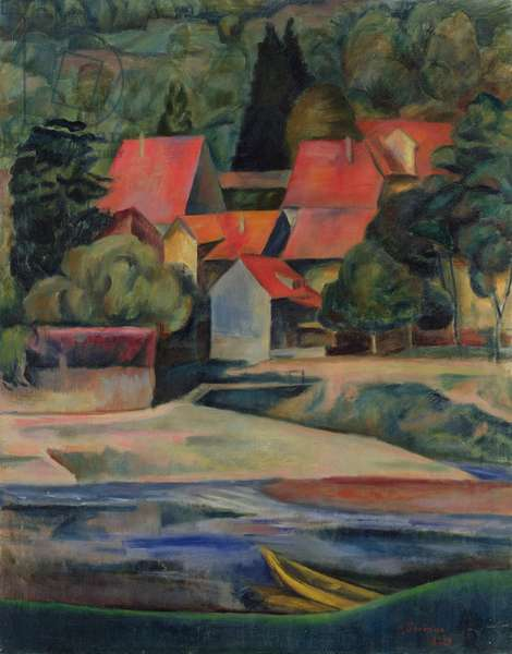 Houses on the River, 1921 (oil on canvas)