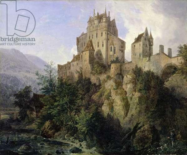 Eltz Castle (oil on canvas)