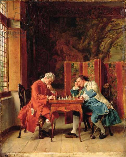 The Chess Players, 1856 (oil on board)