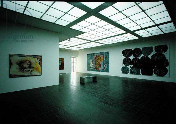 The Baselitz room in the Kunsthalle (photo)