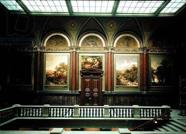 View of a gallery at the Kunsthalle (see also 183253-262) (photo)