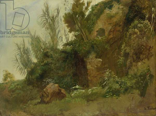 Landscape Study at Baths of Caracalla (oil on canvas)