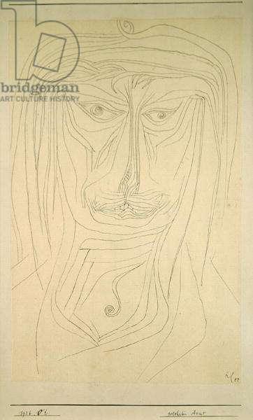 Learned Asian, 1926 (no 52) (pen on paper on cardboard)