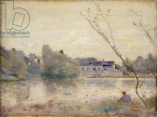 The Pond from the Villa d'Avray, 1865 (oil on canvas)