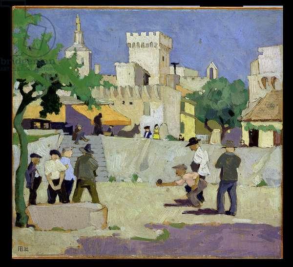 Les Boules, Avignon, 1932 (board)