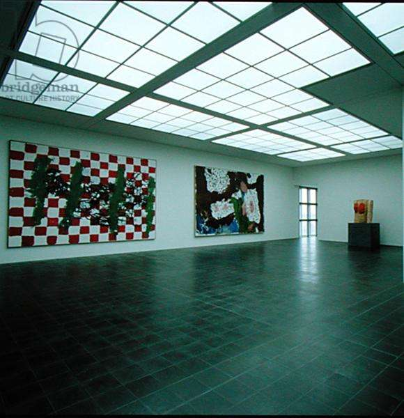 The Baselitz room at the Kunsthalle (photo)