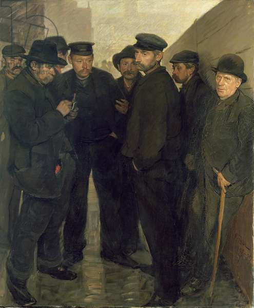 The Unemployed, c.1908-9 (oil on canvas)