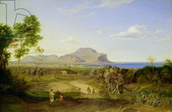 View over Palermo, 1828 (oil on canvas)