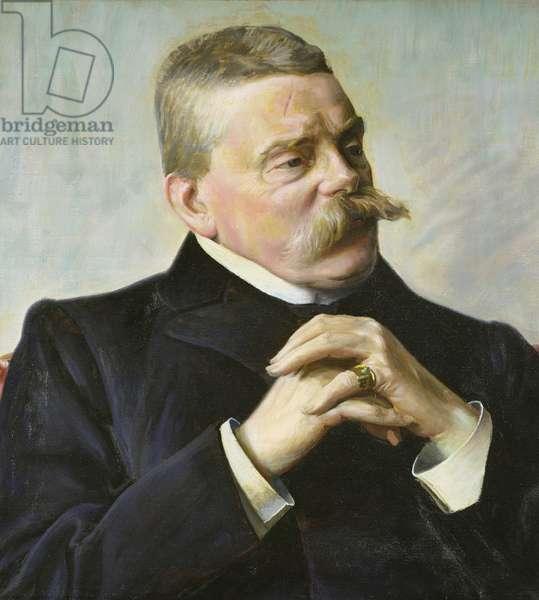Detlev von Liliencron (1844-1909) (oil on canvas)