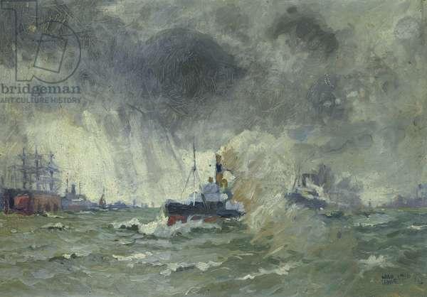 Norwegian Pilot Boat, 1916 (oil on board)