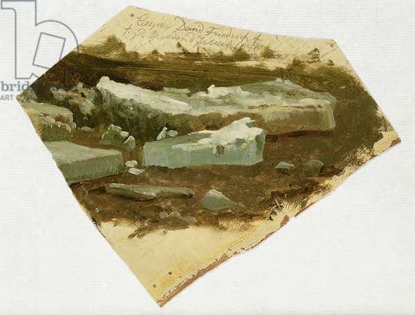 Ice Floe, 1840 (oil on canvas)