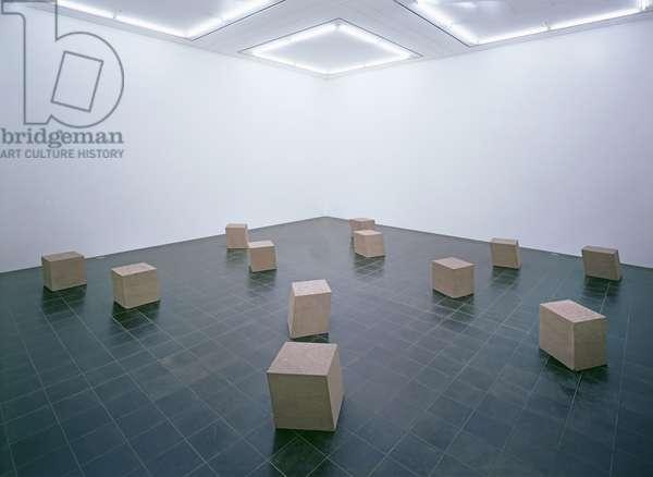Diamond Mind II, 1975-77 (12 blocks of sandstone)