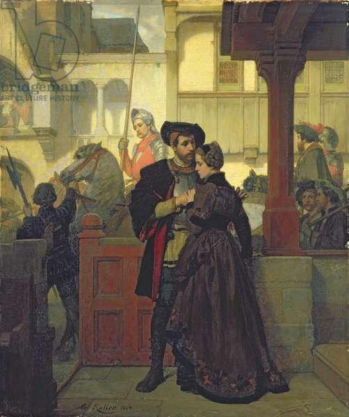 Farewell, 1864 (oil on panel)