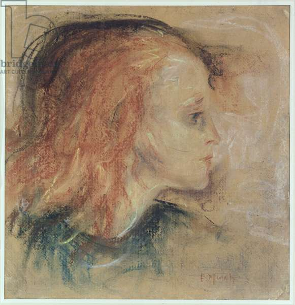 The Sick Child, 1885 (pastel on paper)