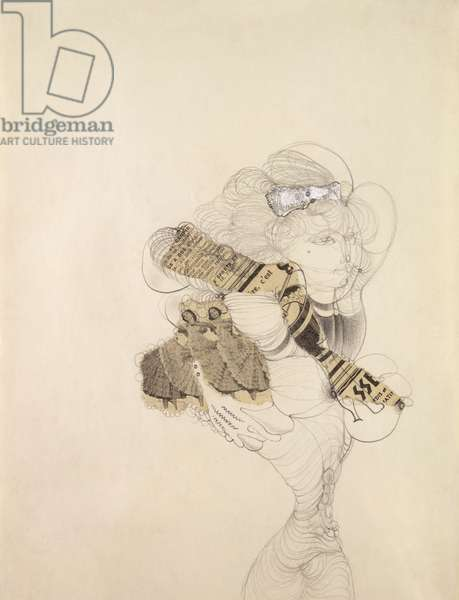 Untitled, c.1938 (pencil and collage on paper)