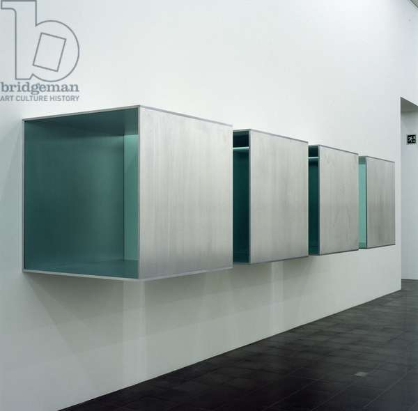 Untitled, 1984 (4 parts, aluminium & perspex) (see also 175450)