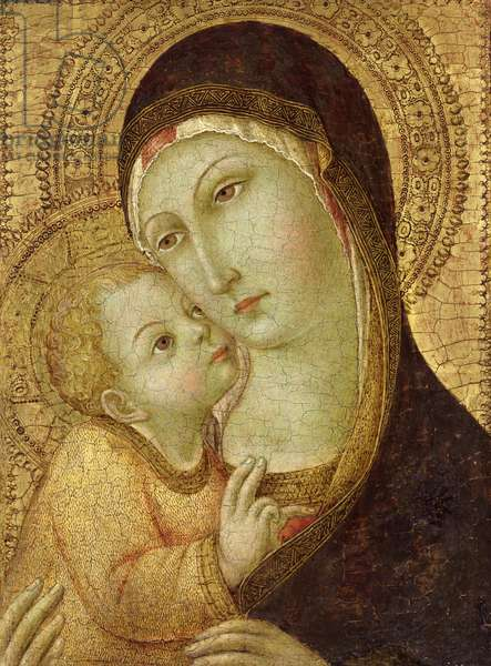 Madonna and Child (tempera and gold leaf on panel)