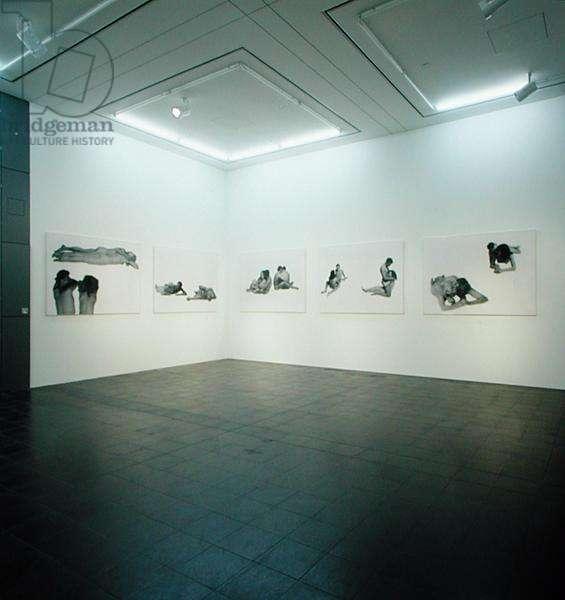 Gallery exhibiting works by Rosemarie Trockel (b.1952) (photo) (see also 182390)