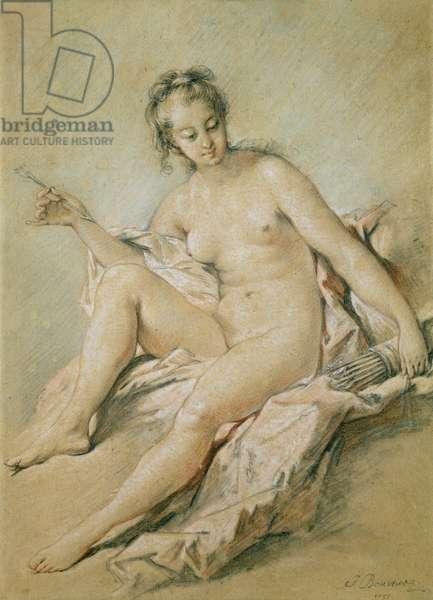 A study of Venus, 1751 (pastel on paper)