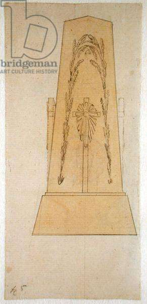 Design for a monument, 1812 (pen with yellow wash on paper)