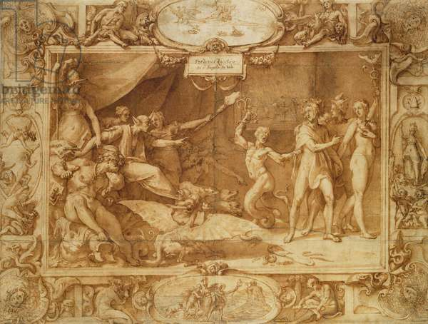 Apollo being led astray, c.1572 (pen and ink with wash on tracing paper over pencil)
