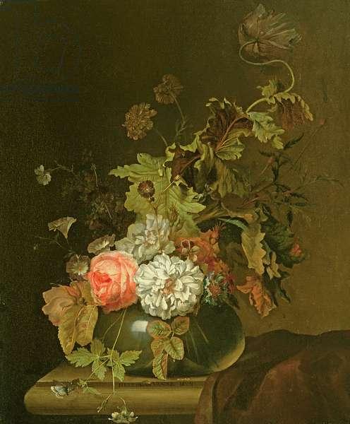 Flower Study (oil on canvas)