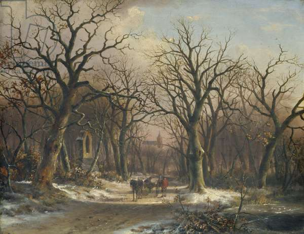 Winter Landscape (oil on panel)