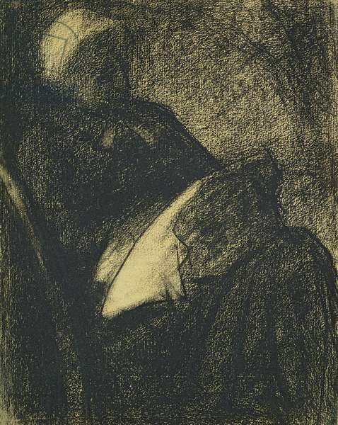 Embroiderer, 1882 (charcoal on paper)