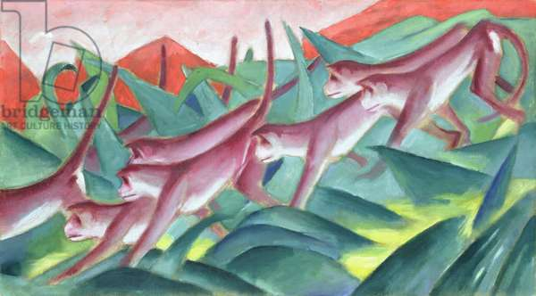 Monkey Frieze, 1911 (oil on canvas)