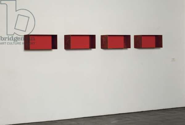 Untitled, 1989 (4 parts, cortin steel & plexiglass)