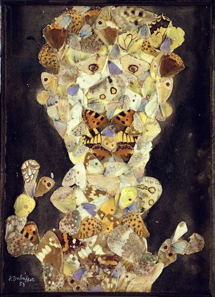 Apollo Pap's Nose, 1953 (collage with butterfly wings)