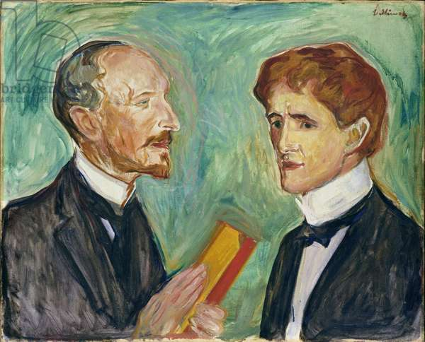 Albert Kollmann (1857-1915) and Sten Drevsen, 1901 (oil on canvas)