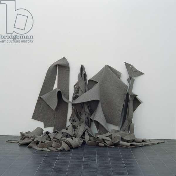 Untitled (Felt Tangle), 1967 (felt, metal eyes)