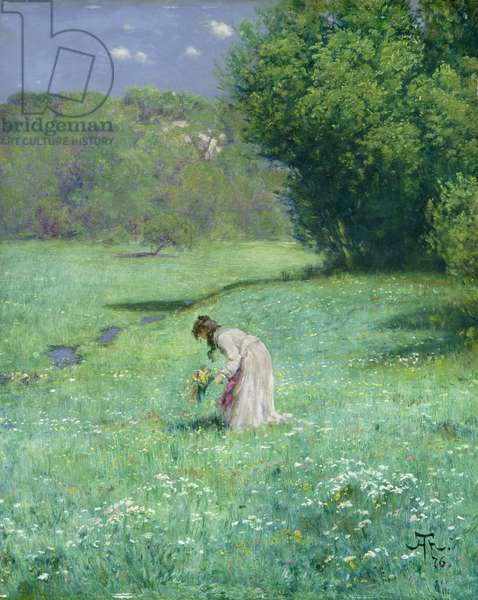 Woodland Meadow, 1876 (oil on panel)