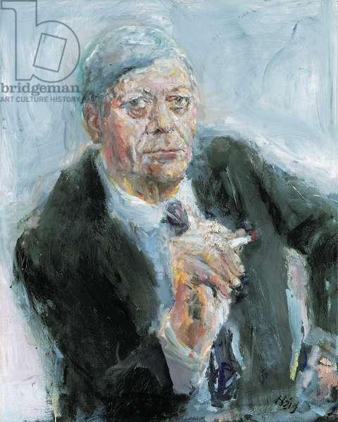 Portrait of Helmut Schmidt (b.1918) Chancellor of West Germany (1974-82) (oil on canvas)