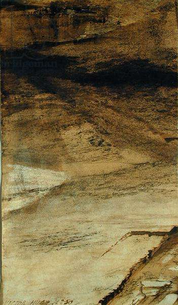 Untitled, 1850 (brown indian ink on paper)
