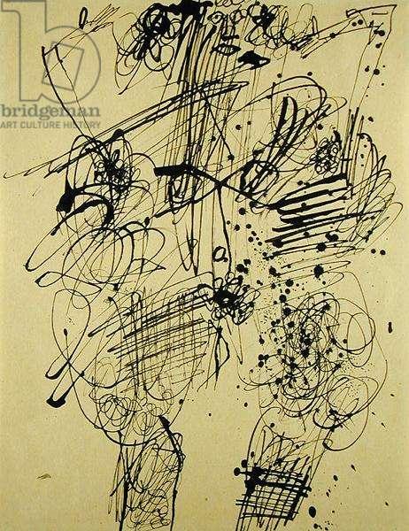 Ladies' Bodies, 1950 (indian ink on paper)