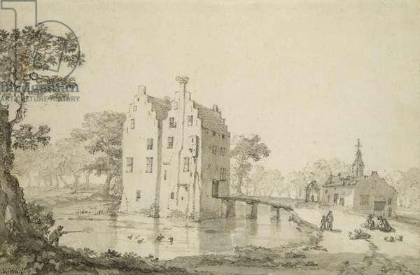 Zuylenburgh Castle (pen and pencil on paper)