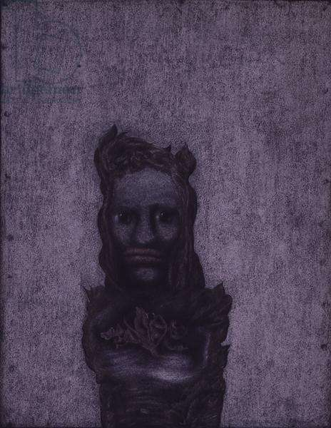 Kassandra, 1934 (white and coloured chalk on paper mounted on card)