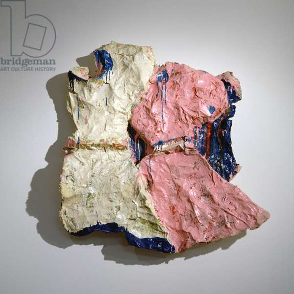 Two Girl's Dresses (Girl's Dresses Blowing in the Wind), 1961 (wire, plaster & enamel)