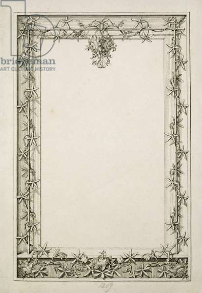 Decorative border, 1809 (pen and ink on paper)