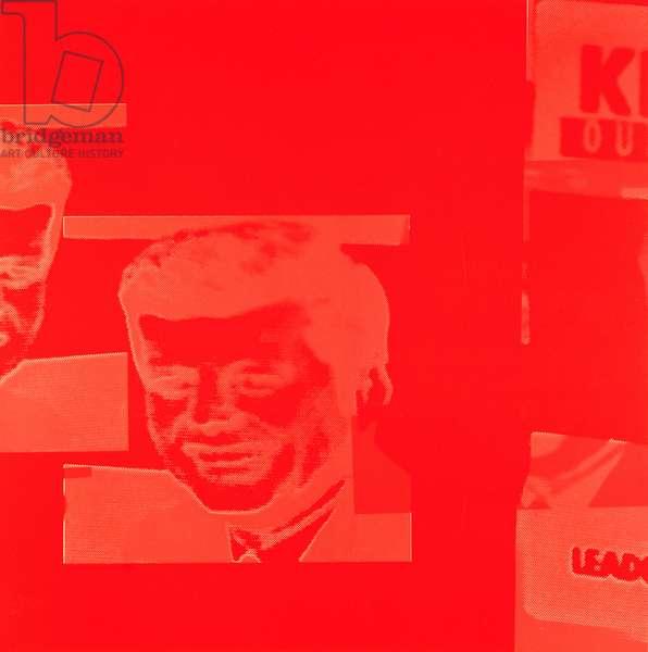 President John F. Kennedy (1917-63) from Flash - November 22, 1963 (screenprint on paper) (see also 182851-182854, 182856-182861)