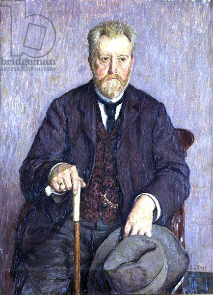 Portrait of Gustav Falke (1853-1916) 1909 (oil on canvas)