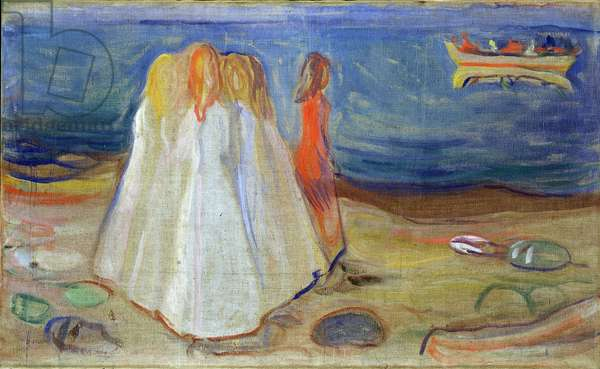 Girls at the Seaside, 1906 (tempera on canvas)