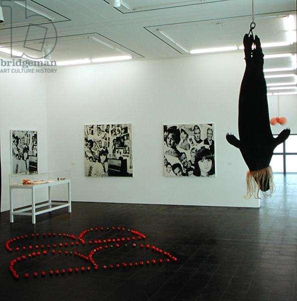 Gallery exhibiting works by Rosemarie Trockel (b.1952) (photo)