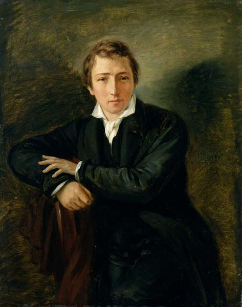 Portrait of Heinrich Heine (1797-1856) 1831 (oil on paper on canvas)