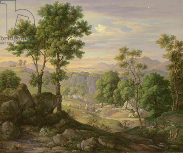 Italian Landscape, 1845 (oil on canvas)