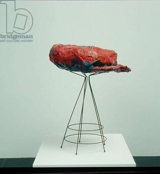 Red Cap, 1961 (wire, plaster & enamel)